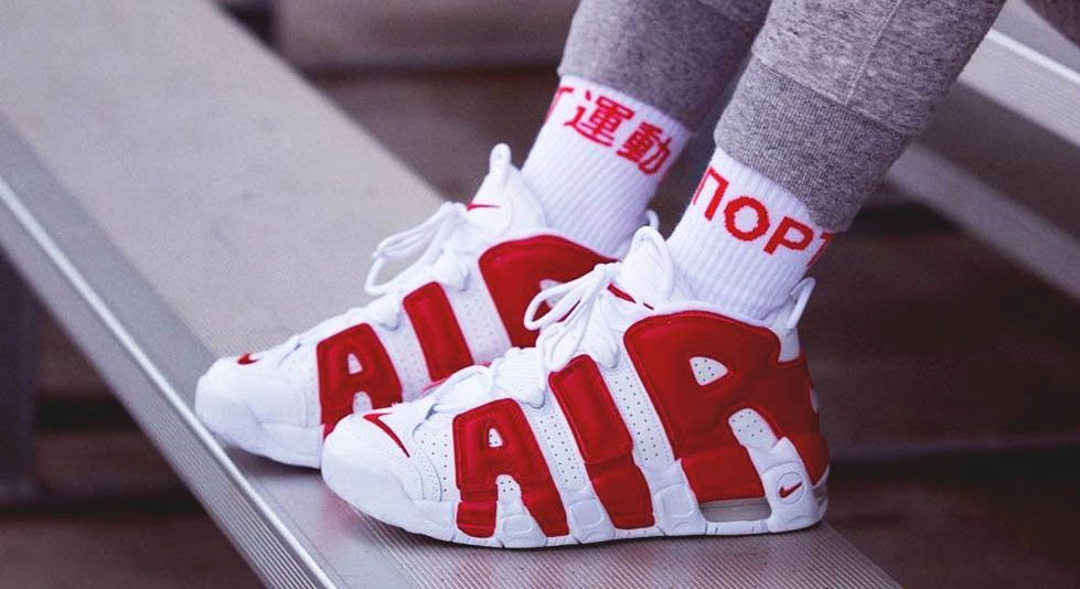 Nike Air More Uptempo - White / Red