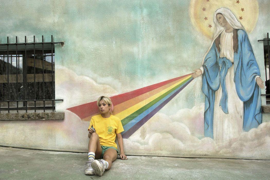 Mural para la película: La llamada   Amanda Portillo (2017)