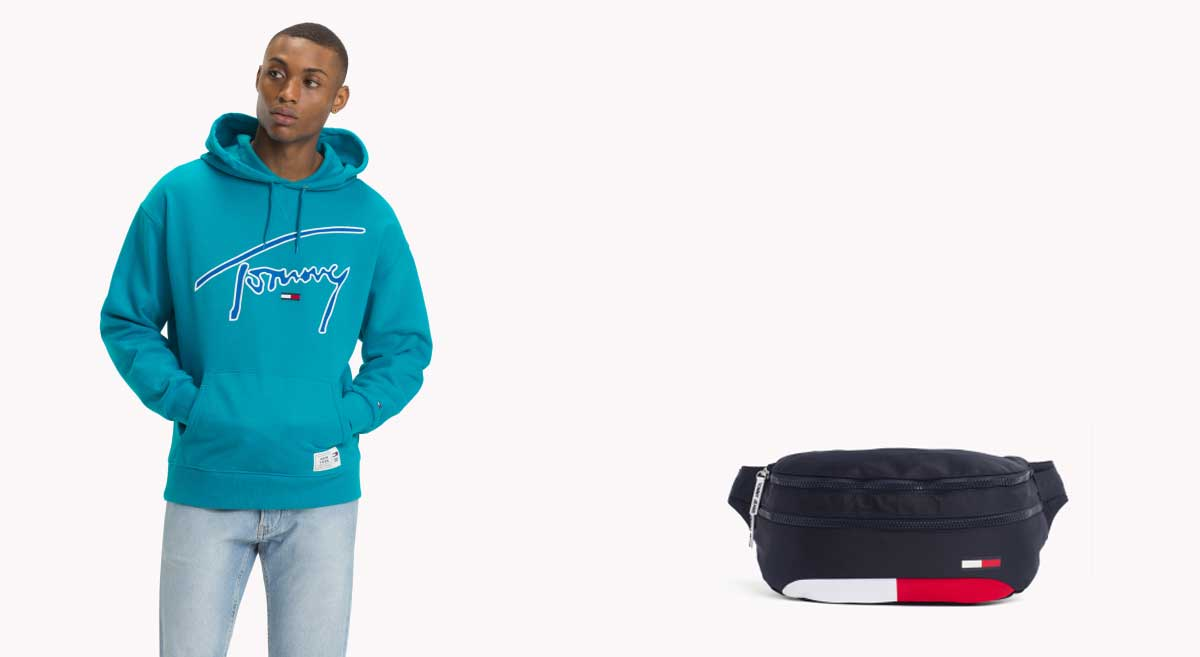 Tommy Jeans - Hoodie & Waisbag W/ Xplore