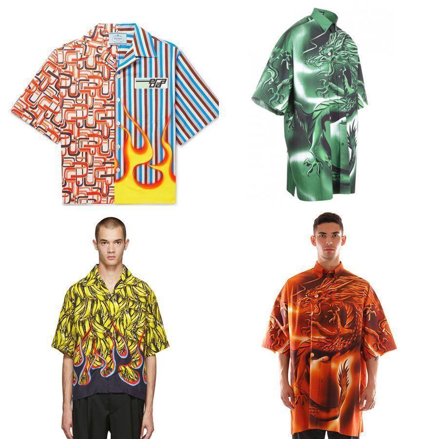 Camisas Sublimadas | Prada & Balenciaga
