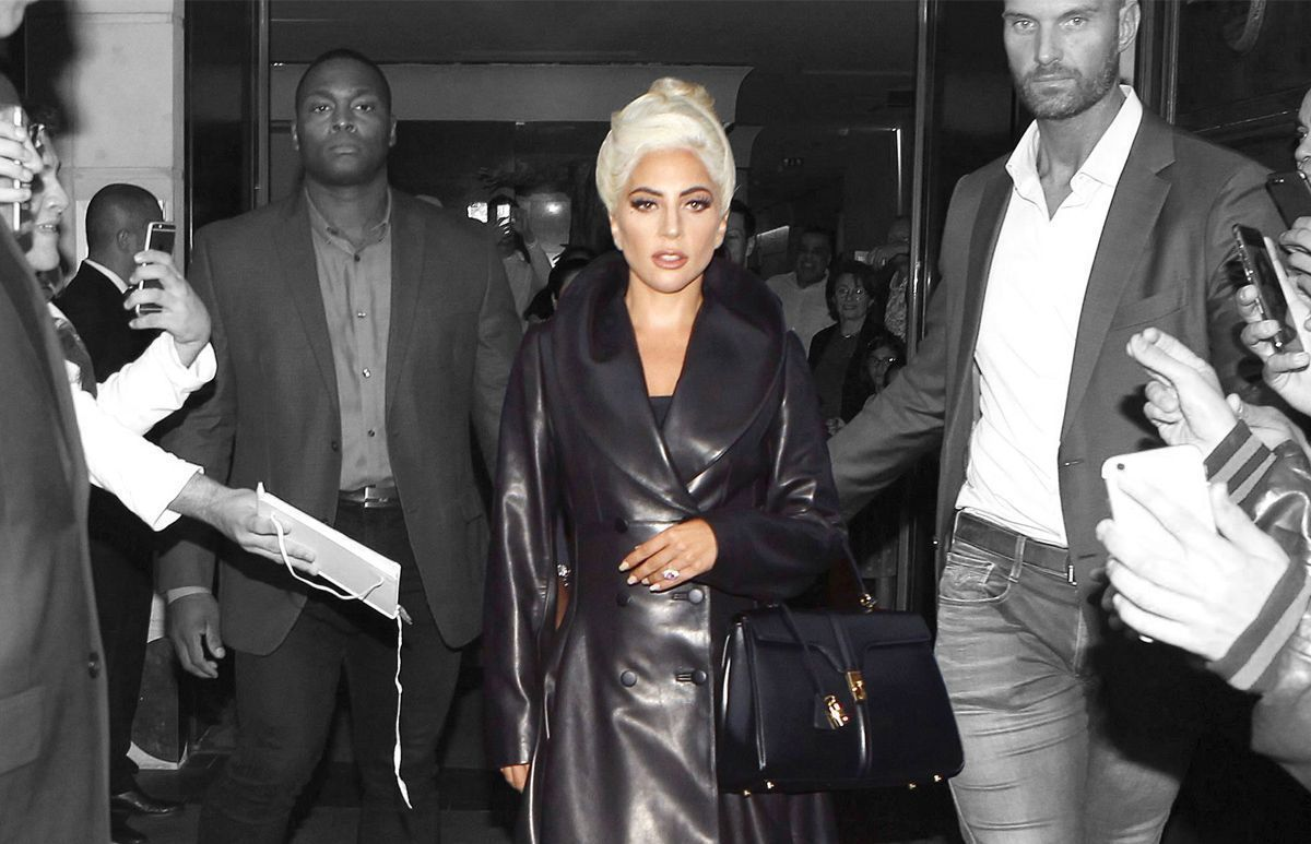 Lady Gaga x Celine Bag by Slimane