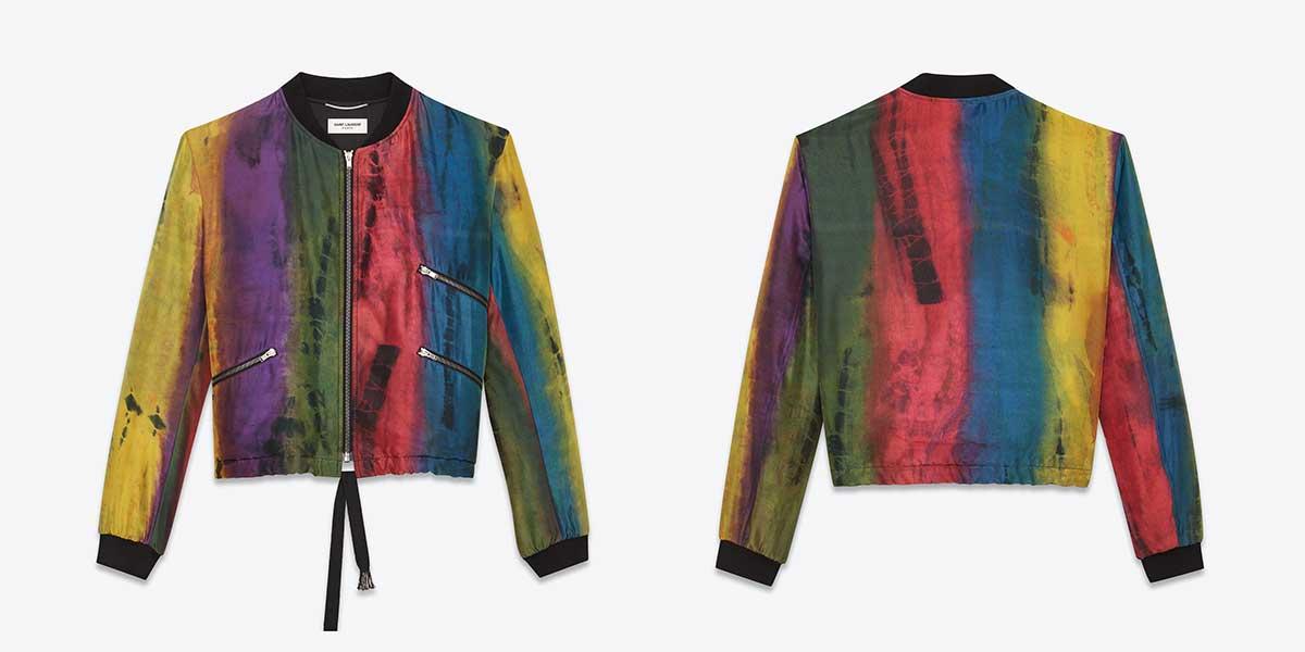 Saint Laurent   Tie Dye Varsity