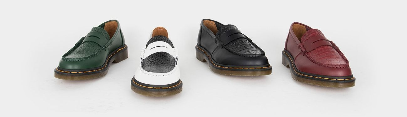 Loafers Dr. Martens x Stussy