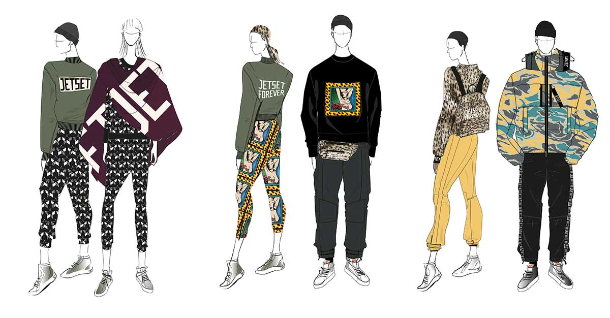 Jet Set - AW19 Sketches
