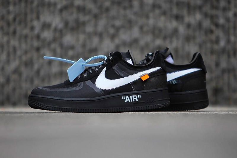 Off White X Nike Air Force 1 Black Volt Already Have Release