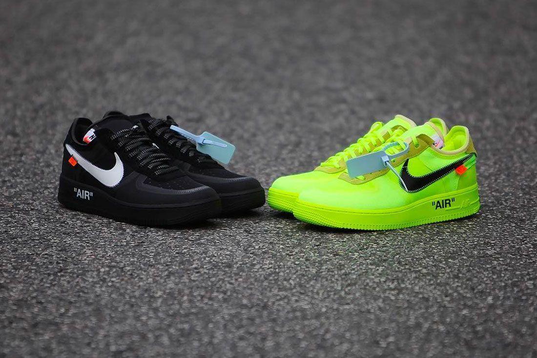 Off-White x Nike Air Force 1 - Black / Volt