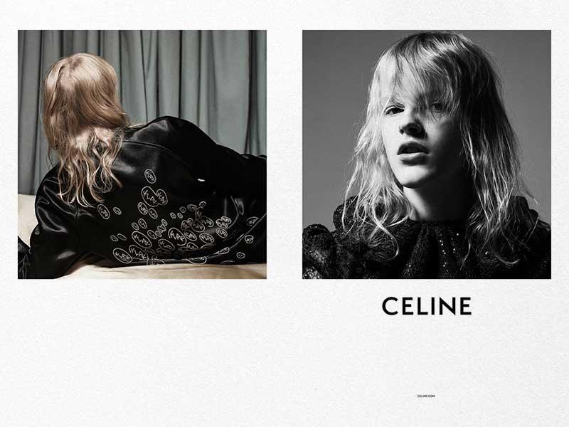 Slimane fotografía, también, la campaña de Celine SS19 de mujer