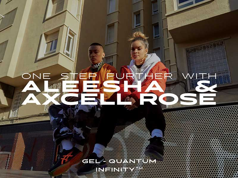 ASICS GEL-QUANTUM INFINITY – One Step Further with Aleesha & Axcell Rose