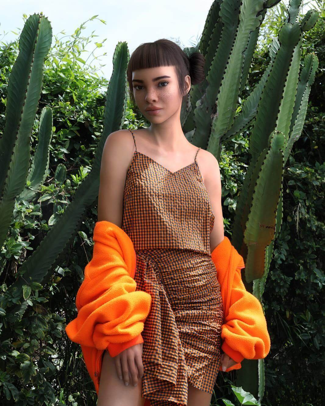 5aaedb566858 Lil Miquela ( lilmiquela) is the first virtual influence of Instagram. She  has a million and a half followers