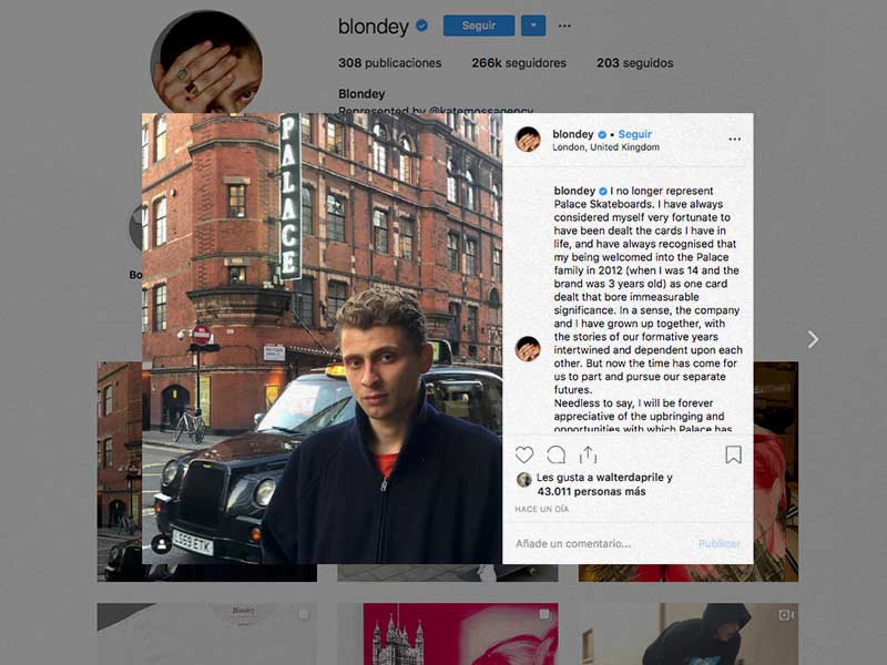 Blondey McCoy breaks up its relationship with Palace Skateboards