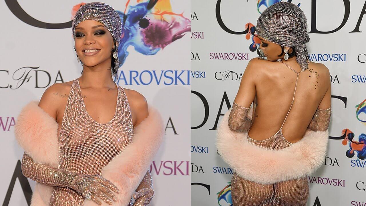 Rihanna wearing Du-Rag