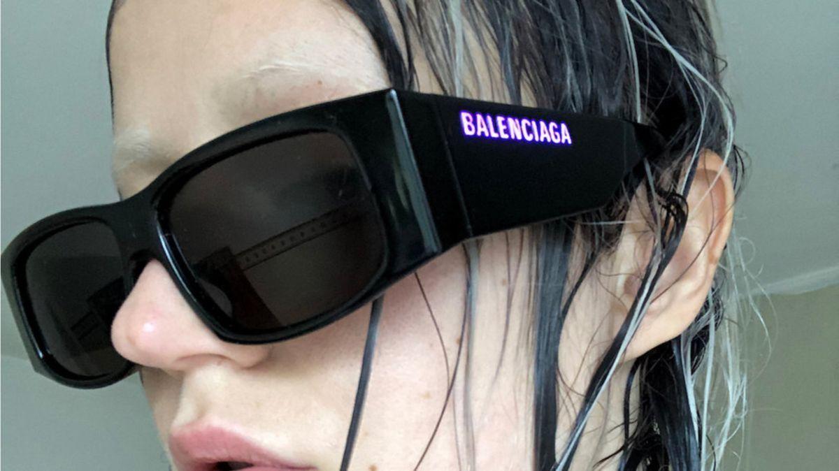 Balenciaga LED sunglasses