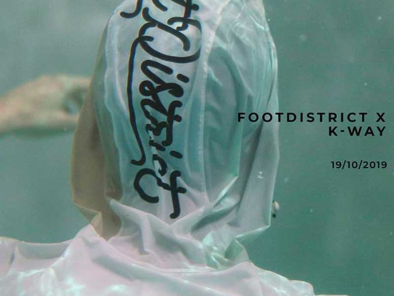 Foot District x K-WAY prepares us for rainy seasons