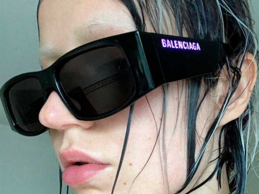 Balenciaga LED sunglasses