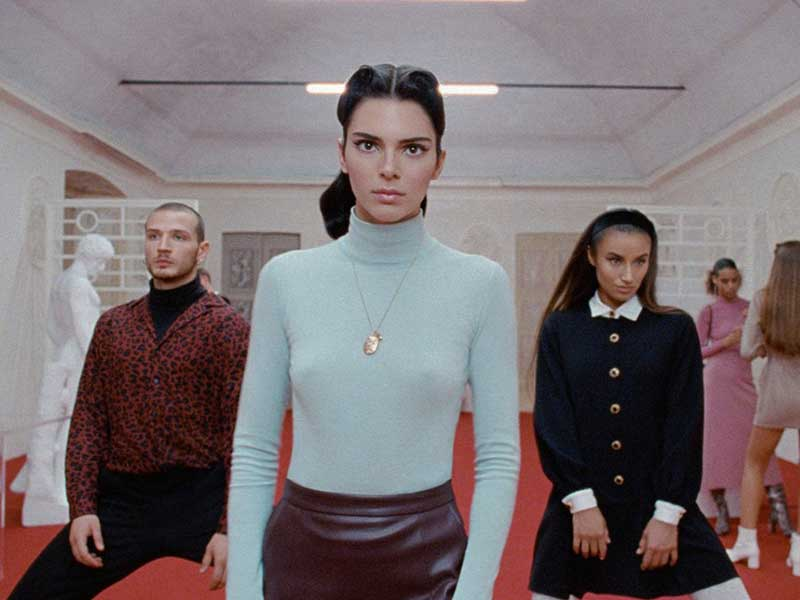 Kendall Jenner as a cult actress in the Reserved AW19 campaign