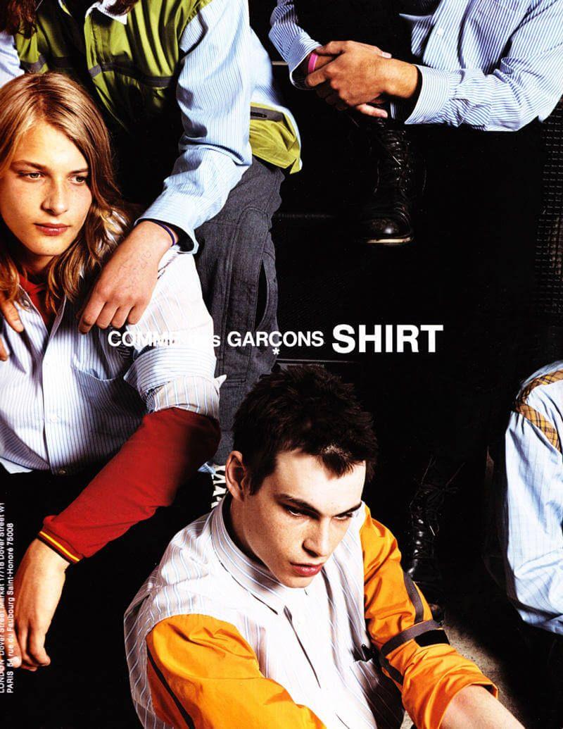 Shirt Comme des Garçons advertising