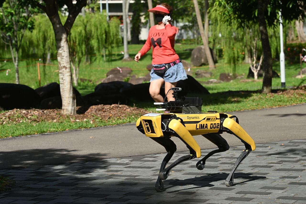 Spot, el perro robot de Singapur