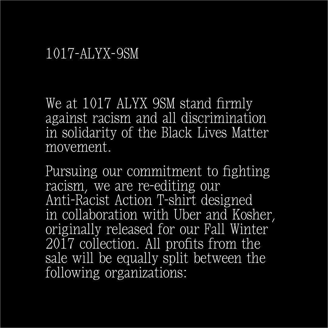 ALYX anti-racism statement