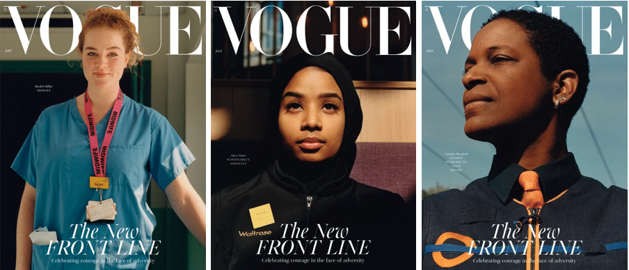 Tribute to frontline workers on the cover of VOGUE UK | HIGHXTAR.