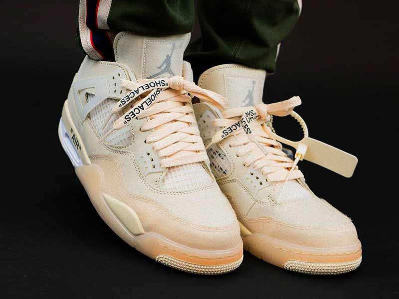 "Descodificando las Off-White x Air Jordan 4 ""Sail"""
