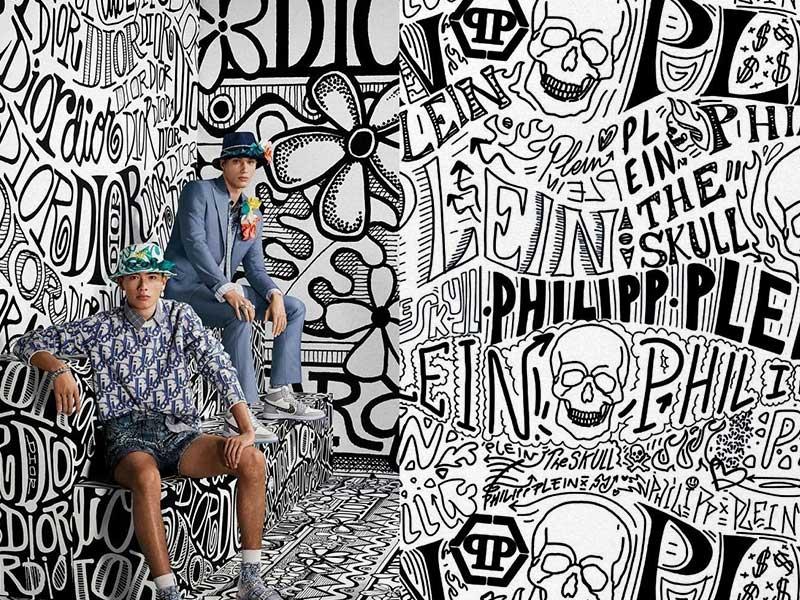 Philipp Plein copy the image of Dior x Shawn Stussy