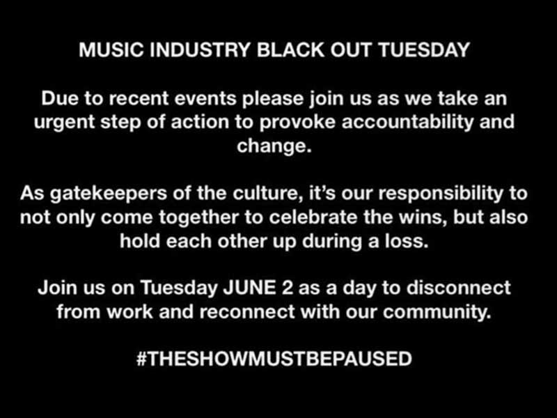 Music industry blackout