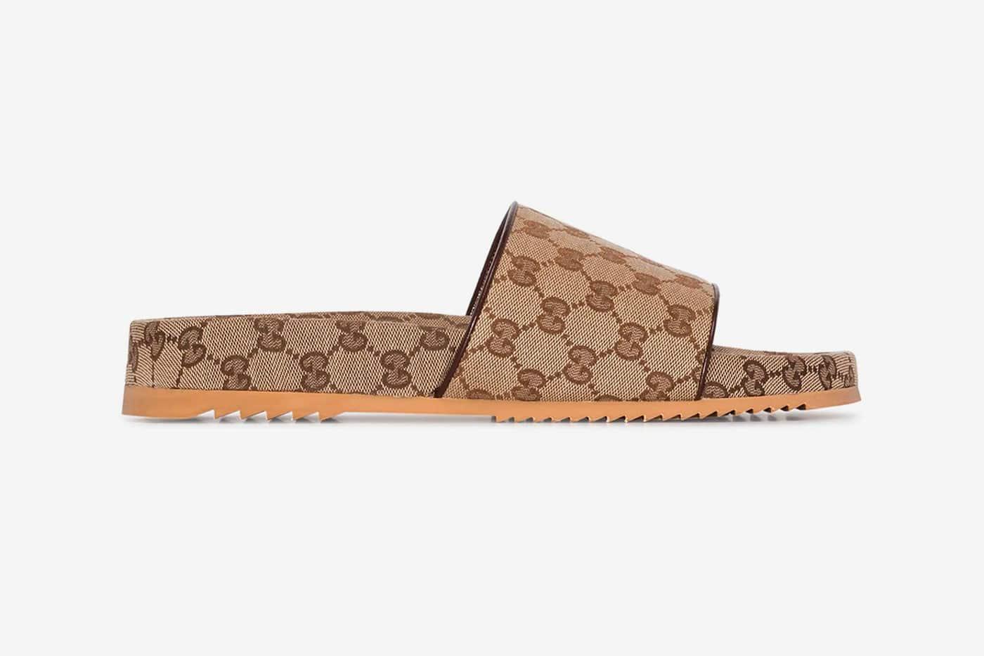 Gucci Brown GG Supreme Sandals