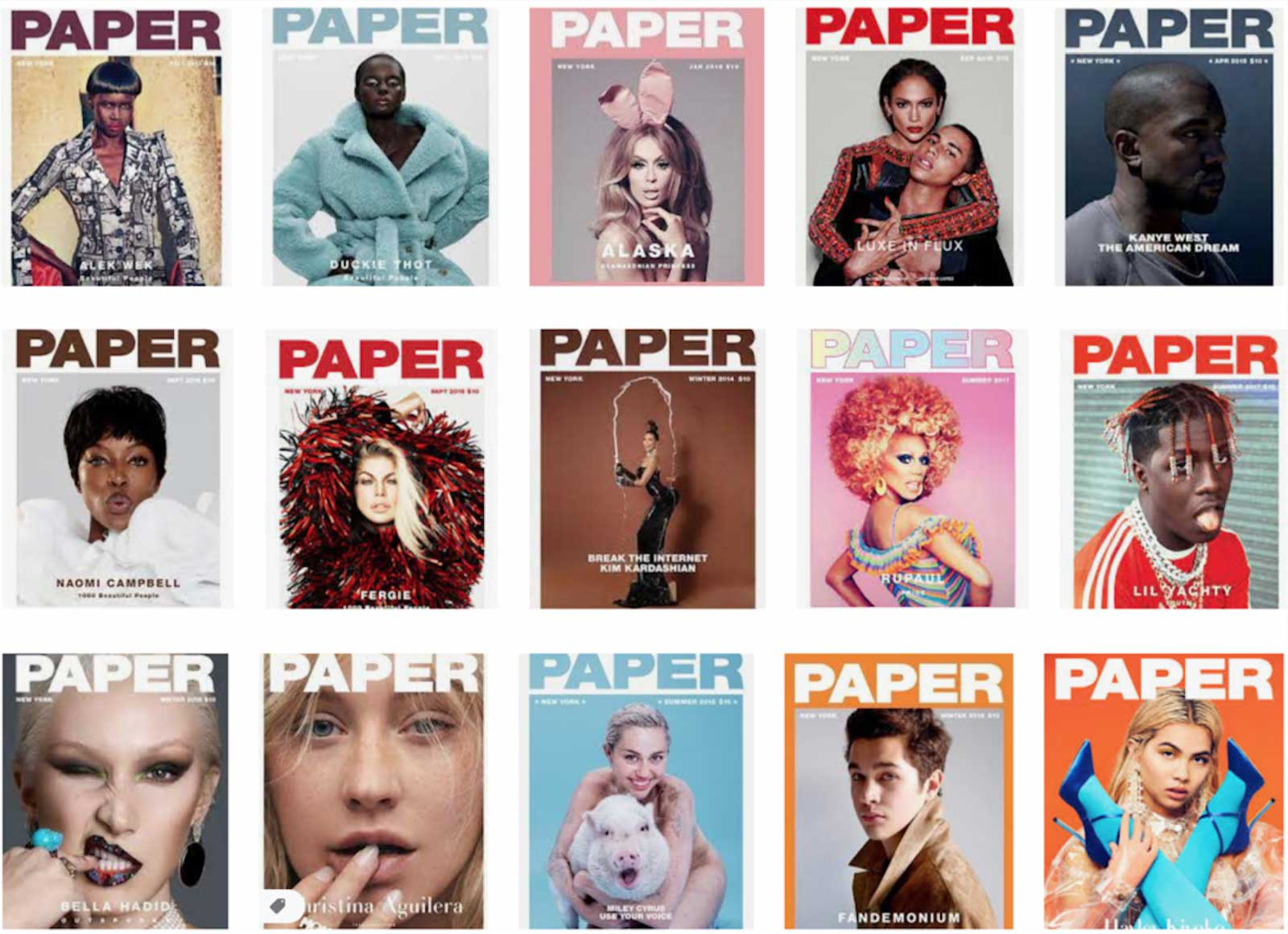 Paper magazine covers