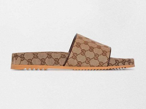 Gucci Brown GG Supreme Sandals