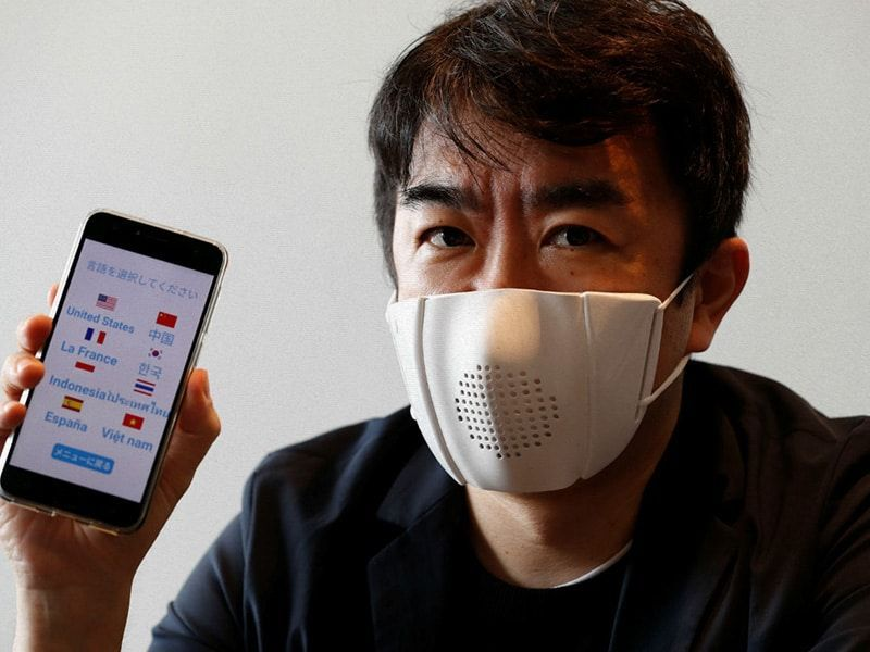 The new smart mask that translates your voice into nine languages