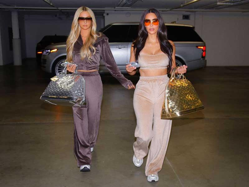 Paris Hilton y Kim Kardashian para SKIMS