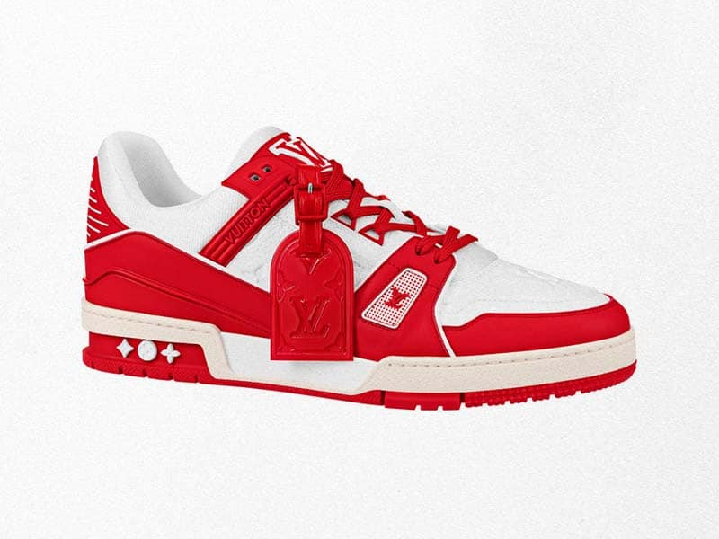 The Louis Vuitton and (Red) AIDS Shoes