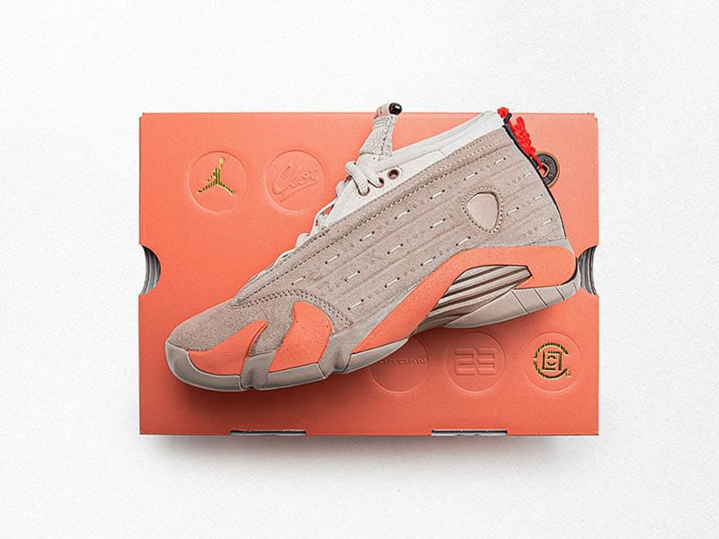 "CLOT Air Jordan 14 low ""terracotta"">>> Pura esencia de china"