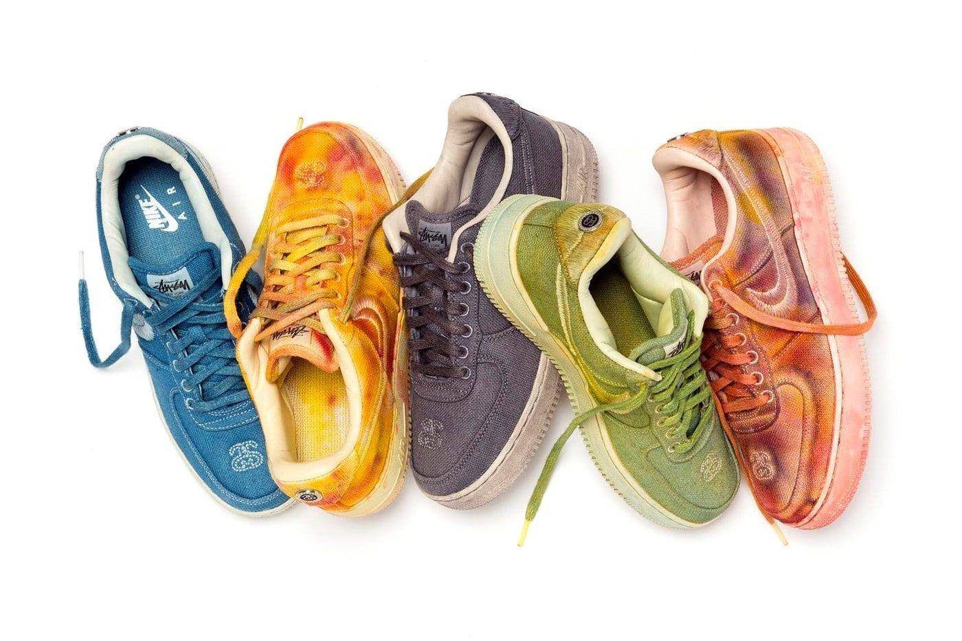 Nike x Stüssy hand dyed AF1
