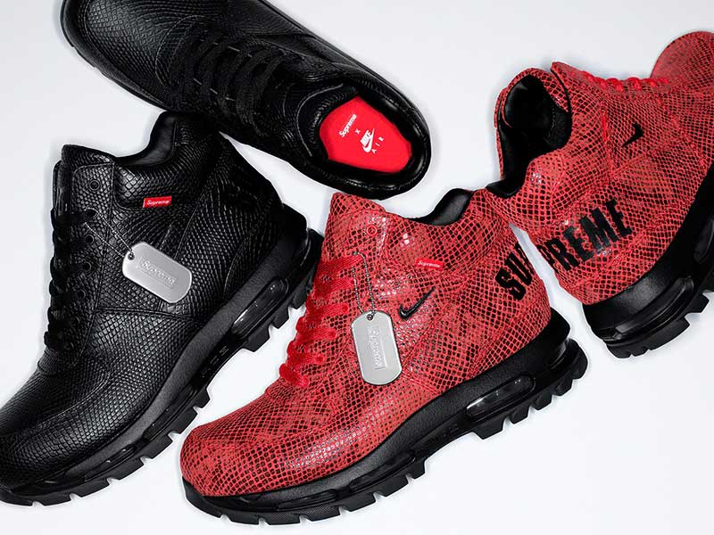 Supreme reinterprets the Air Max Goadome boots
