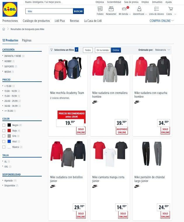 Nike y Lidl