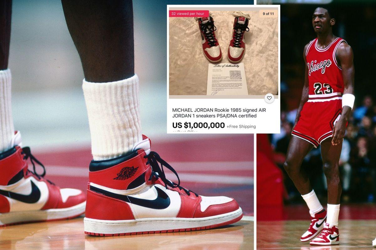 An unworn 1985 Air Jordan 1 signed by Michael Jordan sells for $1 ...