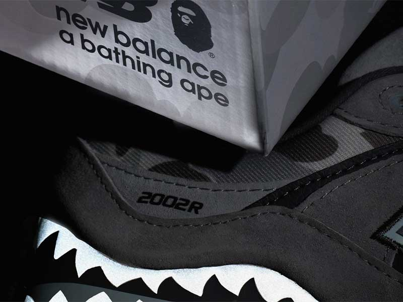 New Balance x BAPE: reinventing the 2002R sneaker