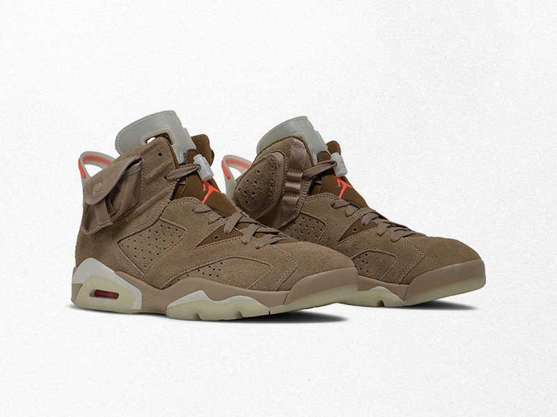 "This is the new Travis Scott x Air Jordan 6 ""British Khaki"""