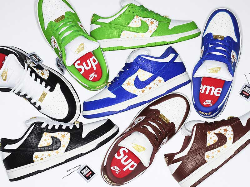 Supreme x Nike SB Dunk Low | Now Dated