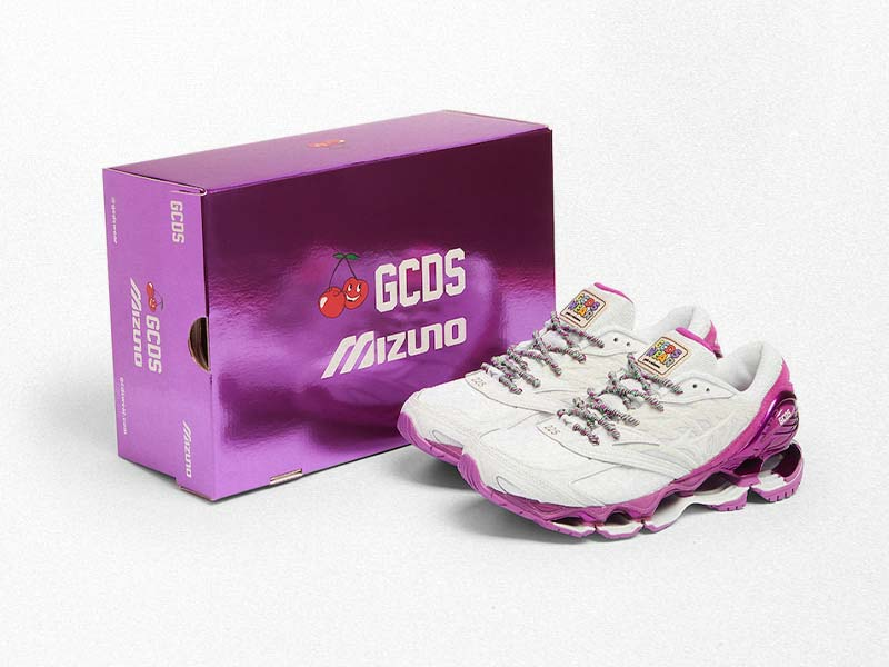 GCDS joins Mizuno for a new exciting collaboration on its iconic Wave Prophecy