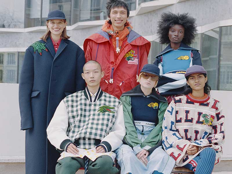 Humor and upcycling in the new Lacoste for FW21