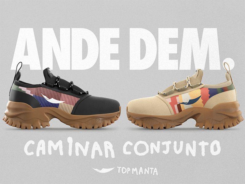 Los manteros de Barcelona diseñan y lanzan a la venta su primera sneaker