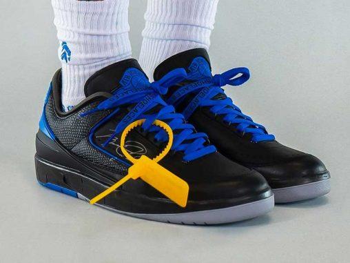 "Off-White™ x Air Jordan 2 Low ""Black/Blue"""
