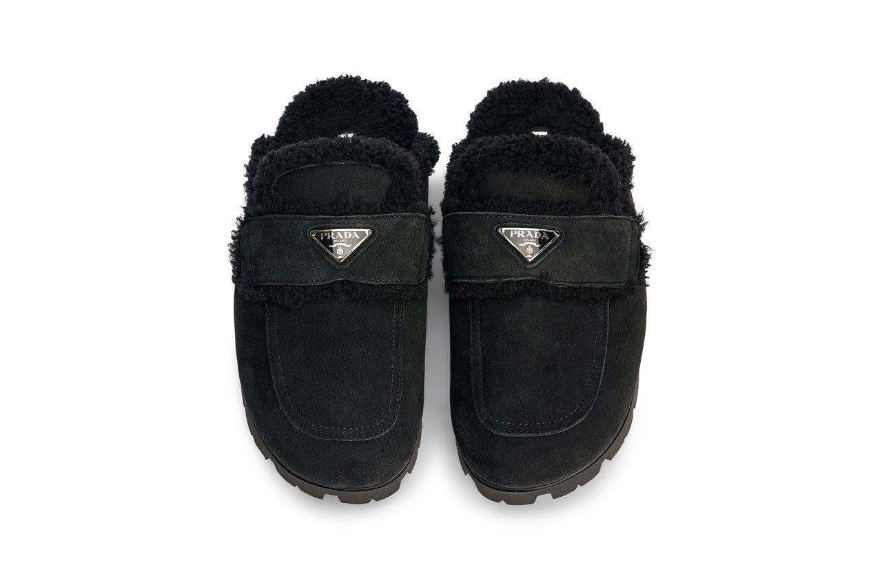 Prada Shearling Slippers