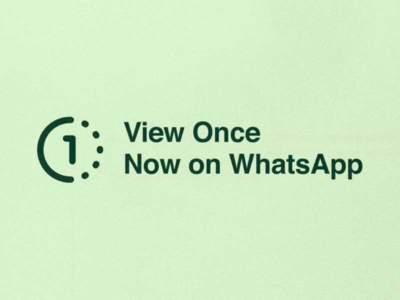 """WhatsApp """"View Once"""""""